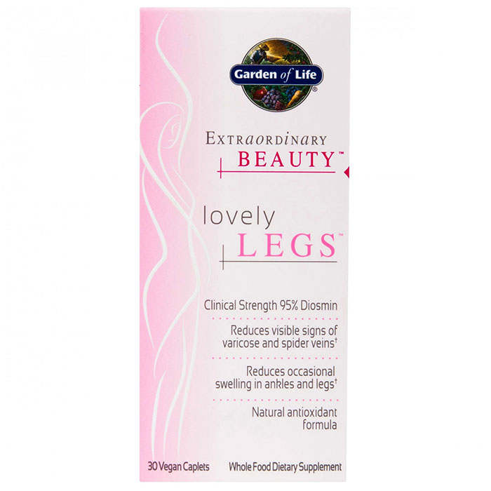 Extraordinary Beauty, Lovely Legs, 30 Vegan Caplets, Garden of Life