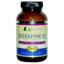 ExtraZyme-13 with Probiotics, 30 Capsules, LifeTime