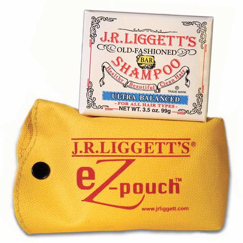 eZ-Pouch with 3.5 oz Ultra Balanced Bar Shampoo, Travel Pouch Kit, J.R. Liggetts
