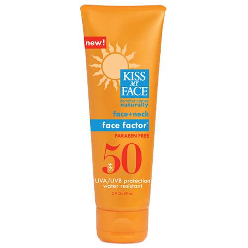 Sun Care Face Factor SPF 50 Sunscreen for Face & Neck, 2 oz, Kiss My Face
