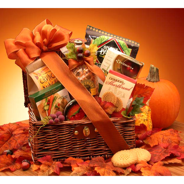 Fall Snack Chest Gift Basket, Elegant Gift Baskets Online