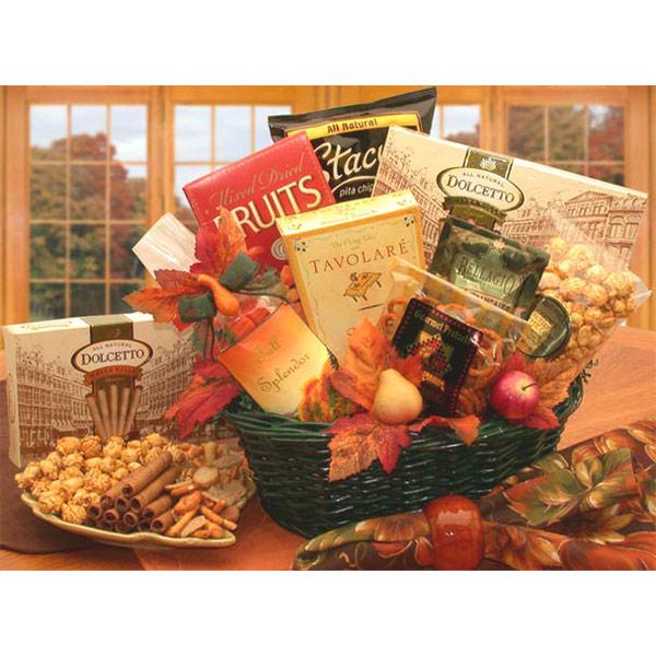 Fall Splendor Gourmet Gift Basket, Elegant Gift Baskets Online