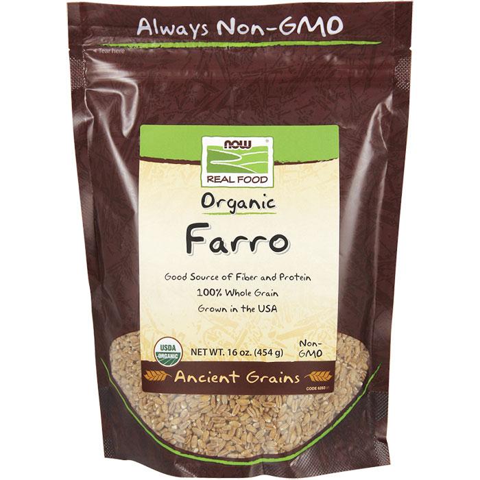 Farro, Organic, 16 oz, NOW Foods
