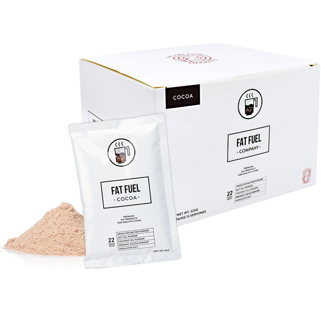 Fat Fuel Cocoa, Drink Mix, 15 Sachets