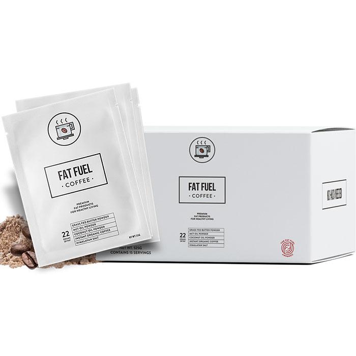 Fat Fuel Coffee, Instant Keto Diet Coffee, 15 Sachets