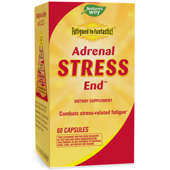 Fatigued to Fantastic! Adrenal Stress End, 60 Capsules, Enzymatic Therapy