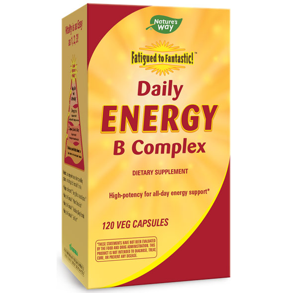Fatigued to Fantastic! Daily Energy B Complex, 120 Veg Capsules, Enzymatic Therapy