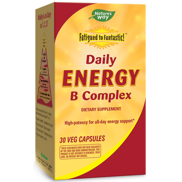 Fatigued to Fantastic! Daily Energy B Complex, 30 Veg Capsules, Enzymatic Therapy