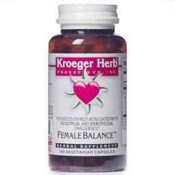 Female Balance, Herbal Supplement, 100 Vegetarian Capsules, Kroeger Herb