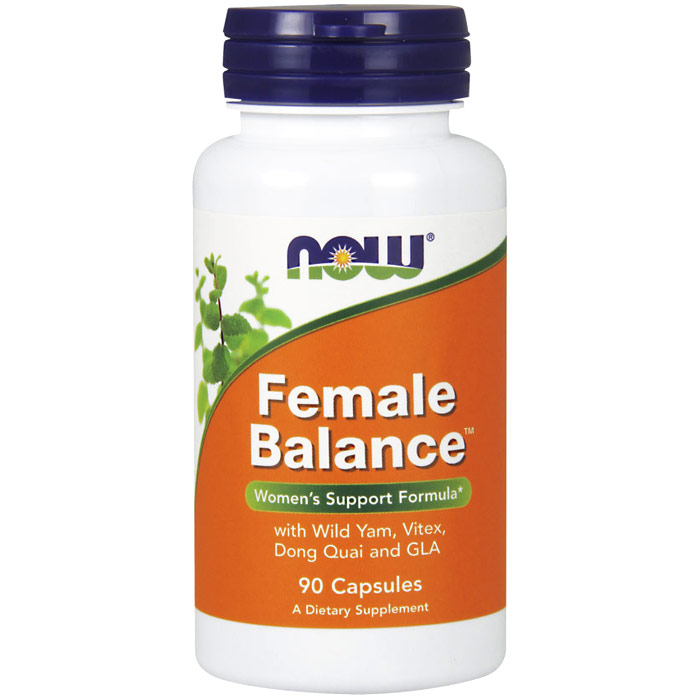 Female Balance, with Wild Yam, Dong Quai and GLA, 90 Capsules, NOW Foods