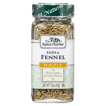 Fennel, India, Whole, 1.6 oz x 6 Bottles, Spice Hunter