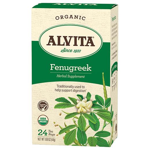 Fenugreek Seed Tea Organic, 24 Tea Bags, Alvita Tea