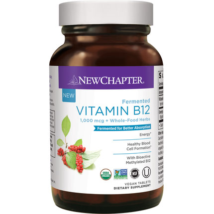 Fermented Vitamin B12, 30 Vegan Tablets, New Chapter