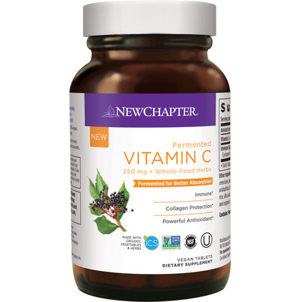 Fermented Vitamin C, Value Size, 60 Vegan Tablets, New Chapter