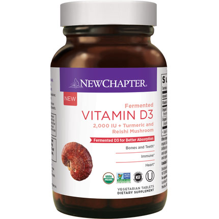 Fermented Vitamin D3, 30 Vegetarian Tablets, New Chapter