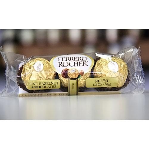 Image of Ferrero Rocher Fine Hazelnut Chocolates, 1.3 oz (38 g)/Pack