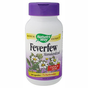 Feverfew Extract Standardized 60 caps from Natures Way