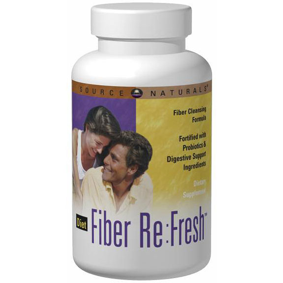 Diet Fiber Re:Fresh Powder, Fiber ReFresh Cleansing Formula, 10.9 oz, Source Naturals