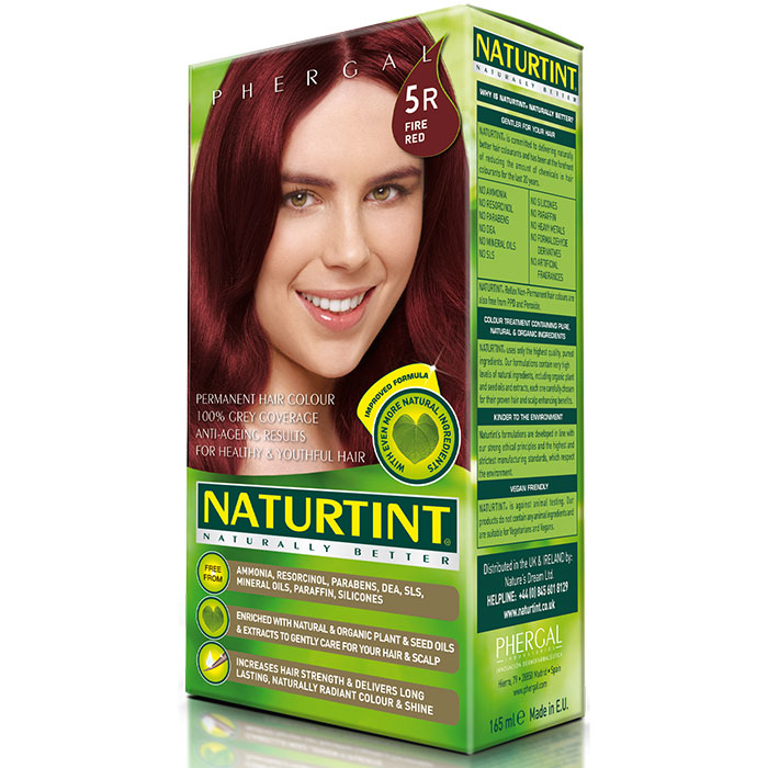 Permanent Hair Color, Fire Red (9R), 5.28 oz, Naturtint