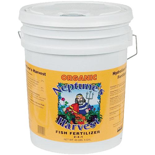 Organic Hydrolyzed Fish Fertilizer 2-4-1, 5 Gallon, Neptune's Harvest