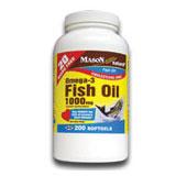 Omega 3 Fish Oil 1000 mg, 200 Softgels, Mason Natural