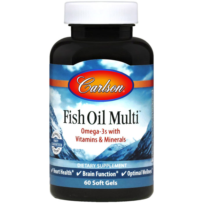 Fish Oil Multi, Iron-free Multi-Vitamins, 60 softgels, Carlson Labs