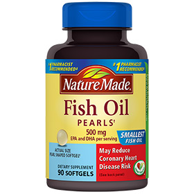 Nature Made Fish Oil Pearls 500 mg, 90 Softgels