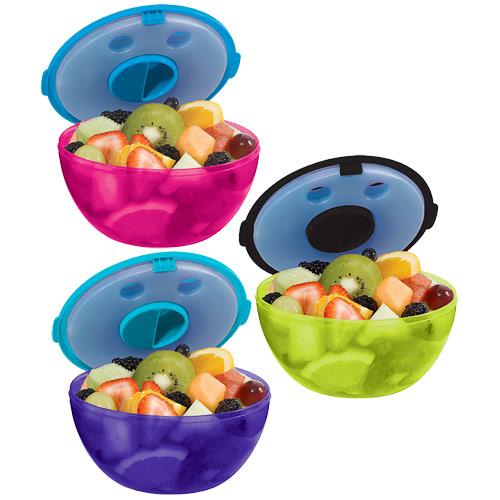 Image of Fit & Fresh Kids Fruit & Salad POD, Salad Bowl with Ice Pack, Assorted Color, VitaMinder