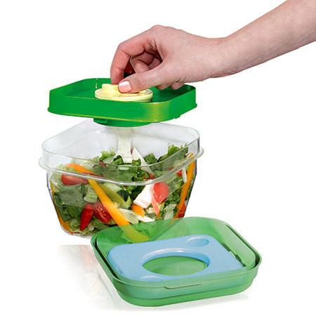 Image of Fit & Fresh Salad Shaker, Salad Bowl with Lid, VitaMinder