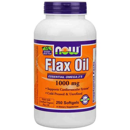 Flax Oil 1000mg, Organic Flax Oil 250 Softgels, NOW Foods