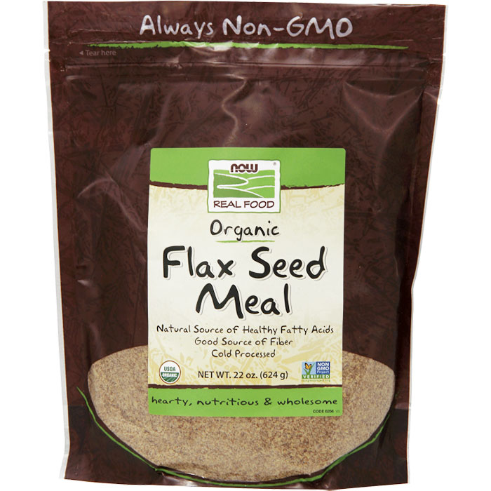 Flax Seed Meal, Certified Organic, 22 oz, NOW Foods