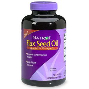 Flax Seed Oil 1000 mg, 200 Softgels, Natrol