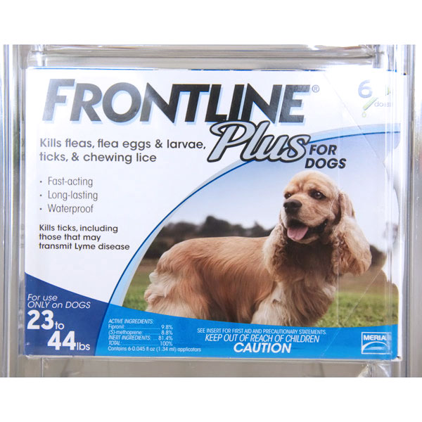 Flea and Tick Drops For Dogs 23lbs-44lbs, 6 Doses, Frontline Plus