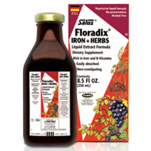 Floradix Iron Plus Herbs Liquid, 8.5 oz, Flora Health