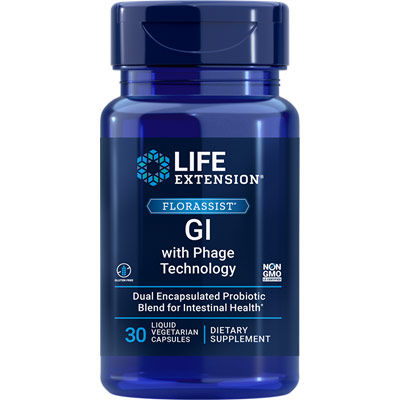 FlorAssist GI with Phage Technology, 30 Liquid Vegetarian Capsules, Life Extension