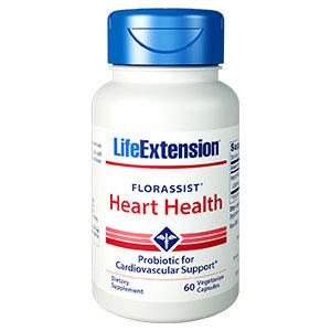 FlorAssist Heart Health, Probiotic Supplement, 60 Vegetarian Capsules, Life Extension