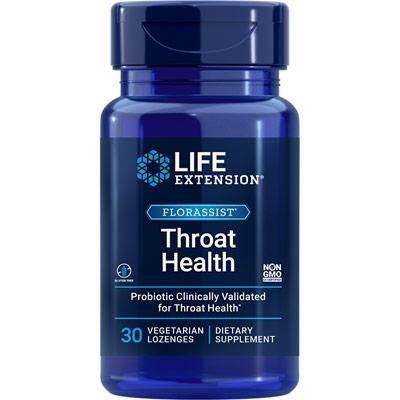 FlorAssist Throat Health, Probiotic Supplement, 30 Lozenges, Life Extension