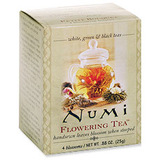Flowering Tea Gift Set with Teapot Box, 1.29 oz, Numi Tea