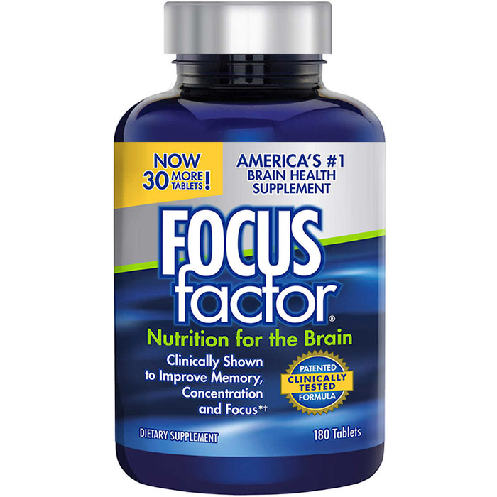FocusFactor Supports Memory, Concentration and Focus, 150 Tablets, Factor Nutrition Labs