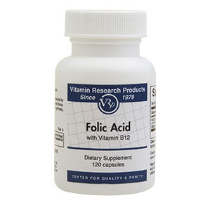 Folic Acid, 800 mcg, 120 Capsules, Vitamin Research Products - CLICK HERE TO LEARN MORE