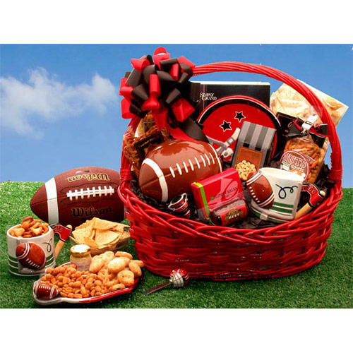 Image of Football Fanatic Sports Gift Basket, Elegant Gift Baskets Online
