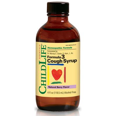 ChildLife Formula 3 Cough Syrup For Children, Natural Berry, 4 oz