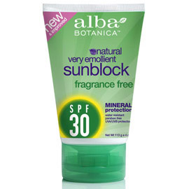 Fragrance Free Mineral Sunscreen SPF18, 4 oz, Alba Botanica - CLICK HERE TO LEARN MORE