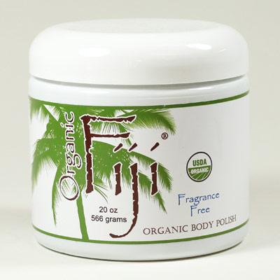 Fragrance Free Sugar Polish, Organic Coconut Oil Face & Body Polish, 20 oz, Organic Fiji