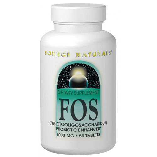 FOS Fructooligosaccharides 1000mg 50 tabs from Source Naturals