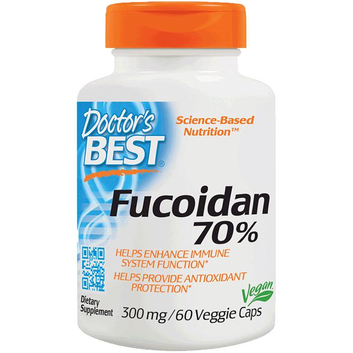 Fucoidan 70% (from Brown Algae), 60 Vegetarian Capsules, Doctors Best