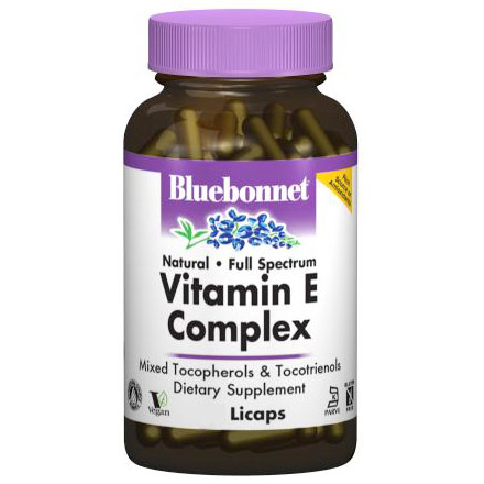 Full Spectrum Natural Vitamin E Complex, 30 Licaps, Bluebonnet Nutrition