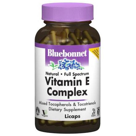 Full Spectrum Natural Vitamin E Complex, 60 Licaps, Bluebonnet Nutrition