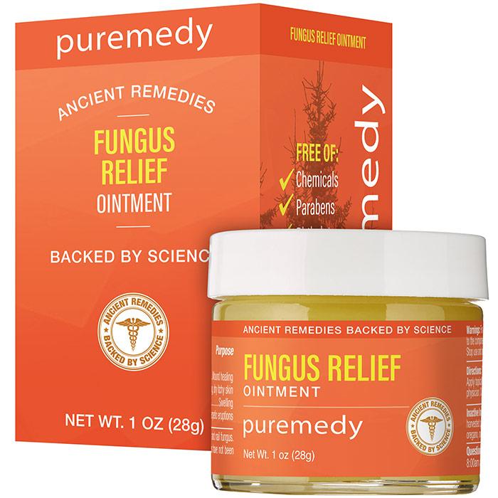 Fungus Relief Salve For Skin & Nails, 2 oz, Puremedy