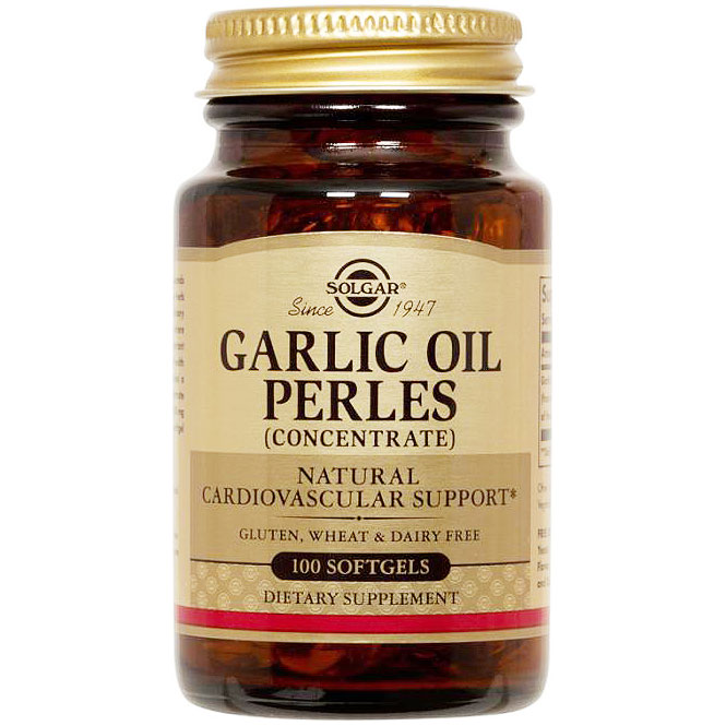 Garlic Oil Perles (Concentrate), 100 Softgels, Solgar